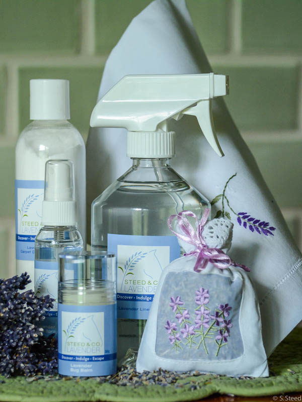Lavender Home Essentials and essential oil cleaning products